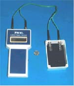 Handheld instrument with sensor module graphic